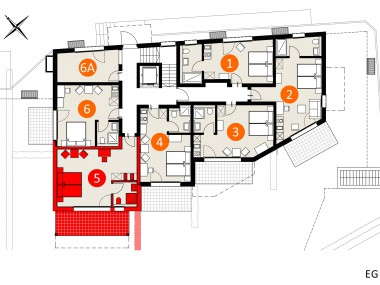 Top Modernes Möbiliertes Studio im Apartment-Haus Gränichen