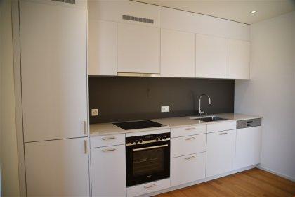 Küche mit viel Stauraum und modernen Geräten