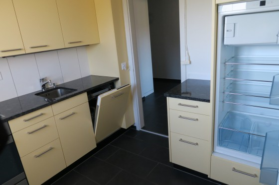moderne Küche mit Granitabdeckung und GS